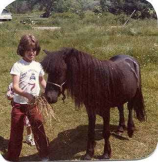 Michelle 10 years old with her pony Hobbit